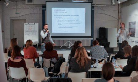 Redaktoren des Instituts ifa teilten ihre Erfahrung mit den Teilnehmern des Seminars zur Informationsarbeit